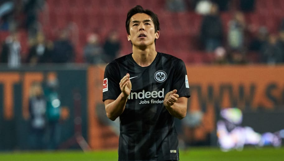 AUGSBURG, GERMANY - NOVEMBER 24: Makoto Hasebe of Frankfurt looks on during the Bundesliga match between FC Augsburg and Eintracht Frankfurt at WWK-Arena on November 24, 2018 in Augsburg, Germany. (Photo by TF-Images/Getty Images)