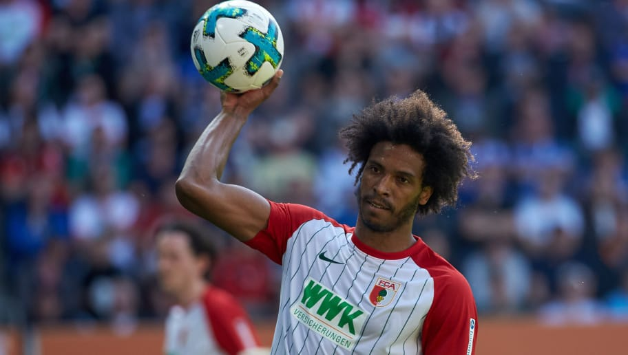 AUGSBURG, GERMANY - MAY 05: Francisco da Silva Caiuby of Augsburg looks on during the Bundesliga match between FC Augsburg and FC Schalke 04 at WWK-Arena on May 5, 2018 in Augsburg, Germany. (Photo by TF-Images/Getty Images)