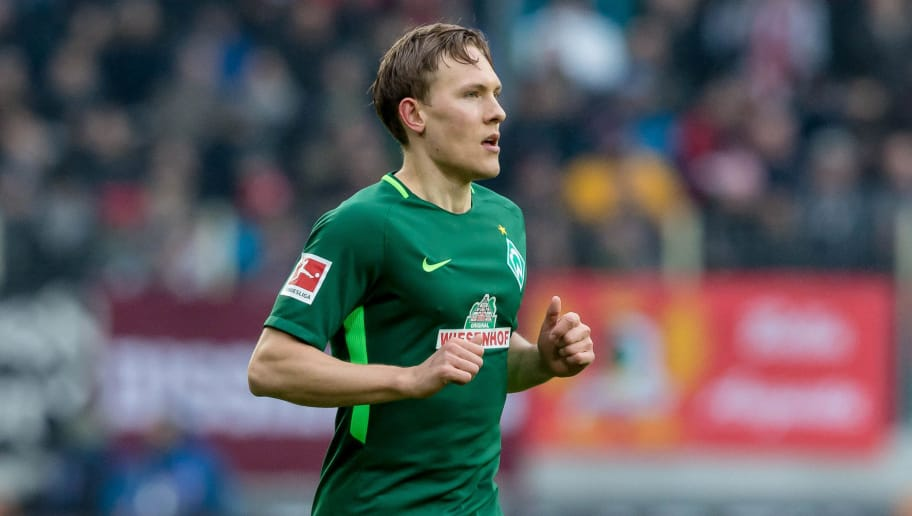 AUGSBURG, GERMANY - MARCH 17: Ludwig Augustinsson of Bremen looks on during the Bundesliga match between FC Augsburg and SV Werder Bremen at WWK-Arena on March 17, 2018 in Augsburg, Germany. (Photo by TF-Images/Getty Images)