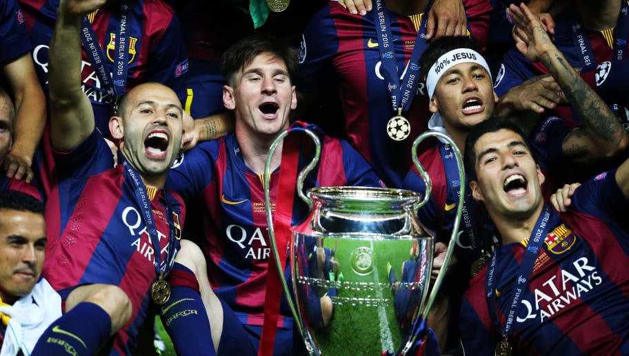 Neymar Jr,Lionel Messi,Luis Suarez,Javier Mascherano