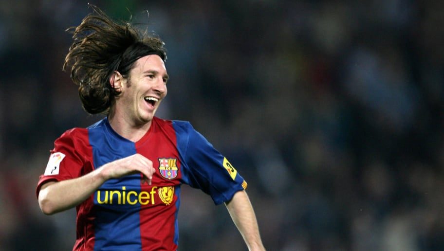 FC Barcelona's Argentinian Leo Messi cel...
