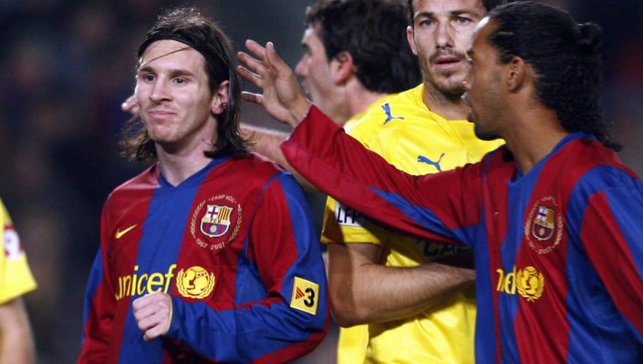 FC Barcelona's Brazilian player Ronaldin