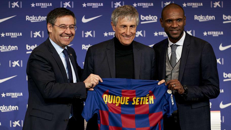 Quique Setien,Josep Maria Bartomeu,Eric Abidal