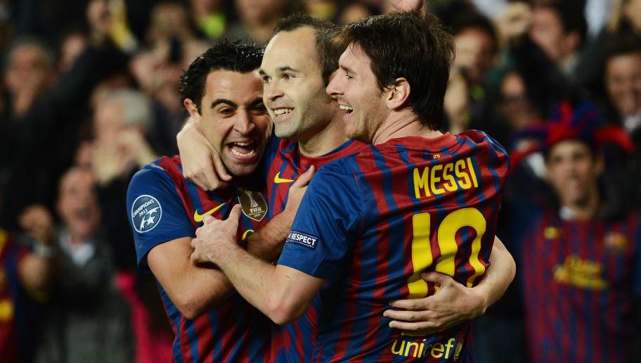 Andres Iniesta,Lionel Messi,Xavi Hernandez