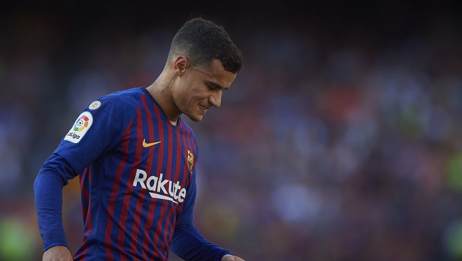 BARCELONA, SPAIN - SEPTEMBER 29:  Philippe Coutinho of Barcelona reacts during the La Liga match between FC Barcelona and Athletic Club at Camp Nou on September 29, 2018 in Barcelona, Spain.  (Photo by Quality Sport Images/Getty Images)