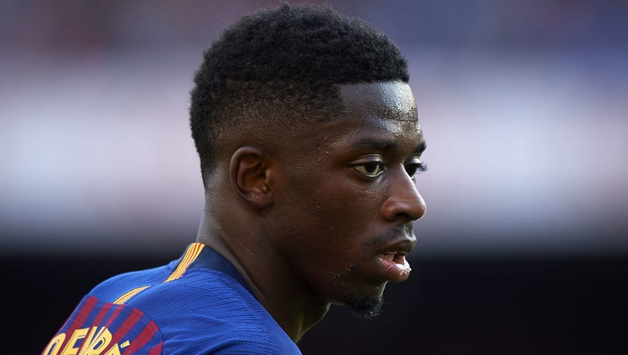BARCELONA, SPAIN - SEPTEMBER 29:  Ousmane Dembele of Barcelona reacts during the La Liga match between FC Barcelona and Athletic Club at Camp Nou on September 29, 2018 in Barcelona, Spain.  (Photo by Quality Sport Images/Getty Images)