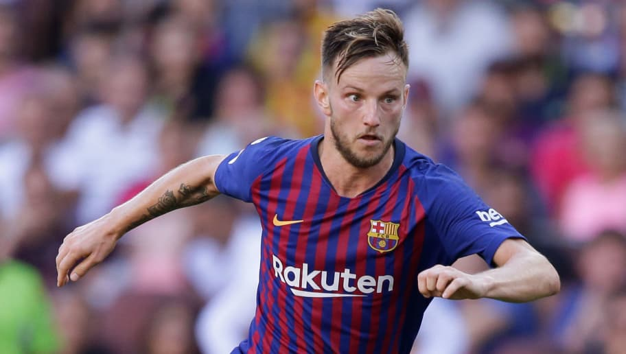 BARCELONA, SPAIN - SEPTEMBER 29: Ivan Rakitic of FC Barcelona during the La Liga Santander  match between FC Barcelona v Athletic de Bilbao at the Camp Nou on September 29, 2018 in Barcelona Spain (Photo by Jeroen Meuwsen/Soccrates /Getty Images)