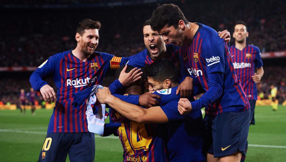 Lionel Messi,Malcom,Jordi Alba,Luis Suarez,Carles Alena