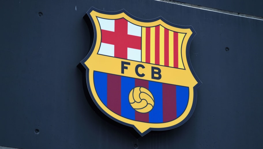 BARCELONA, SPAIN - APRIL 05:  A club crest is seen prior to the UEFA Champions League quarter final first leg match between FC Barcelona and Club Atletico de Madrid at Camp Nou on April 5, 2016 in Barcelona, Spain.  (Photo by David Ramos/Getty Images)