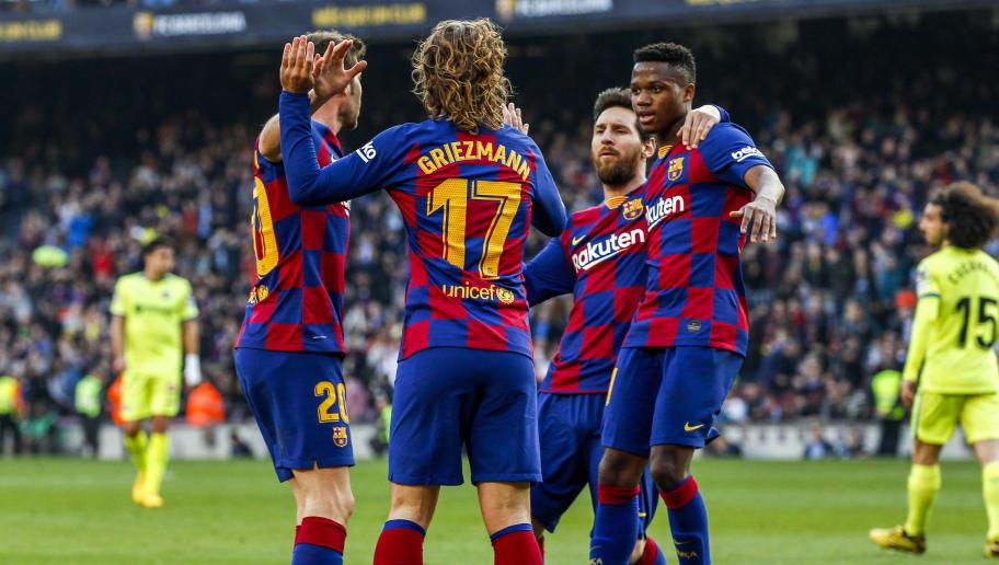 Ansu Fati,Antoine Griezmann,Lionel Messi,Sergi Roberto