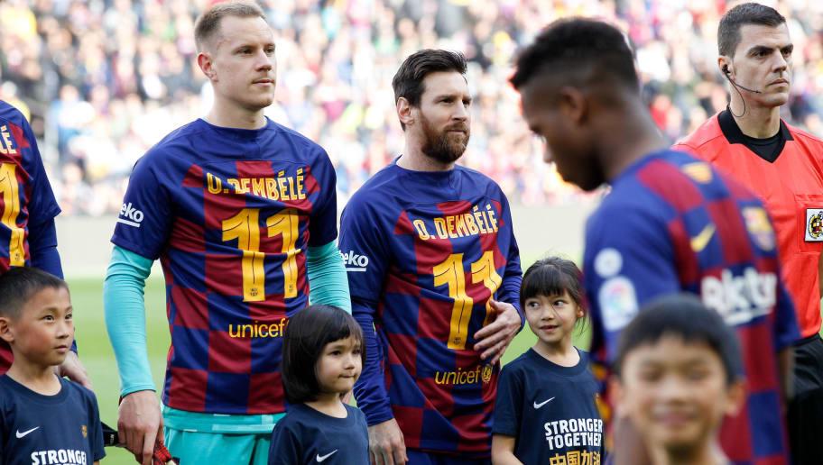 Lionel Messi,Marc Andre Ter Stegen,Ousmane Dembele