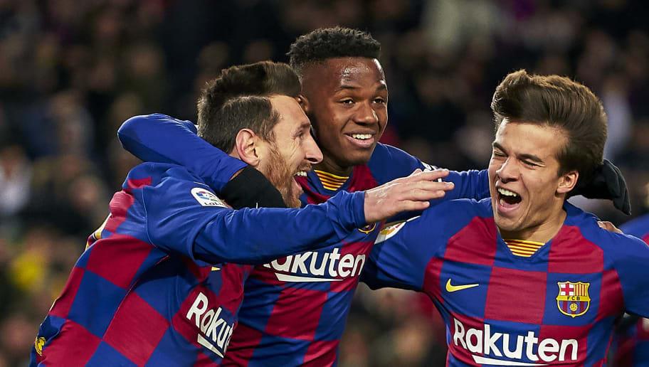 Lionel Messi,Anssumane Fati,Riqui Puig