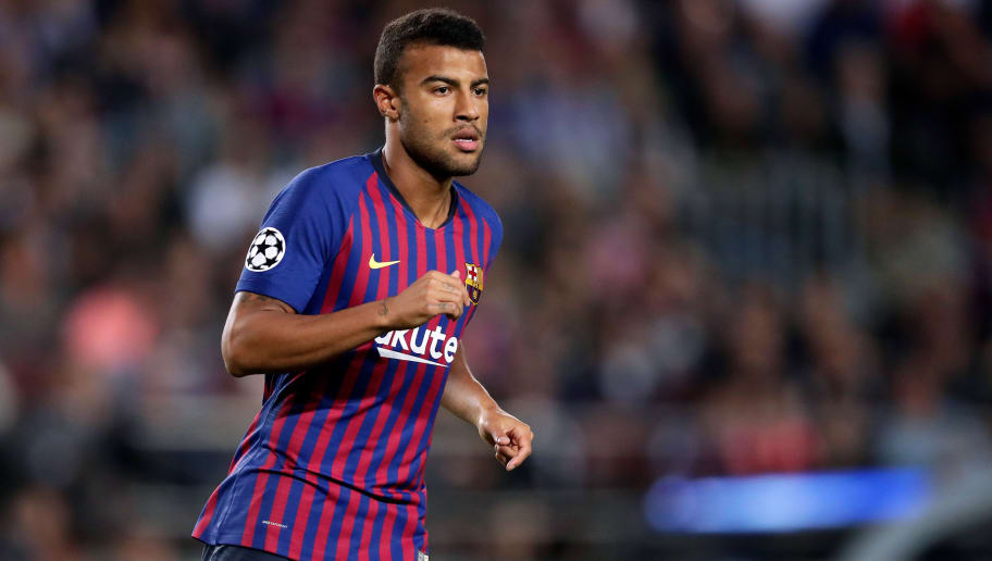 BARCELONA, SPAIN - OCTOBER 24: Rafinha of FC Barcelona  during the UEFA Champions League  match between FC Barcelona v Internazionale at the Camp Nou on October 24, 2018 in Barcelona Spain (Photo by Jeroen Meuwsen/Soccrates/Getty Images)
