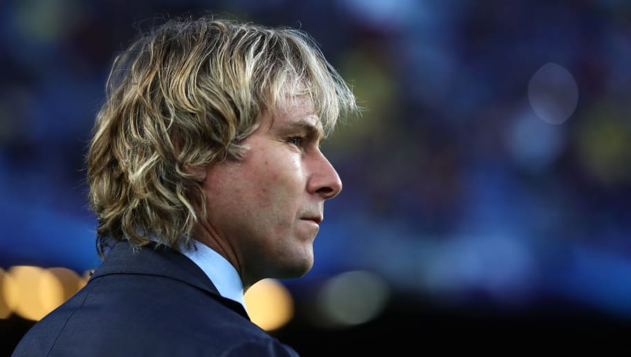 BARCELONA, SPAIN - APRIL 19:  Juventus Vice-President Pavel Nedved looks on during the UEFA Champions League Quarter Final second leg match between FC Barcelona and Juventus at Camp Nou on April 19, 2017 in Barcelona, Spain.  (Photo by Chris Brunskill Ltd/Getty Images)