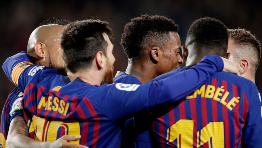 Carles Alena,Lionel Messi,Nelson Semedo,Ousmane Dembele