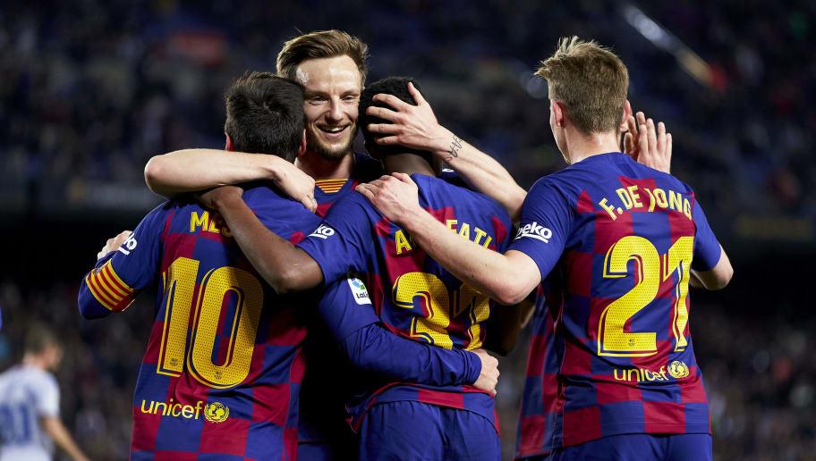 Ansu Fati,Lionel Messi,Frenkie de Jong,Ivan Rakitic