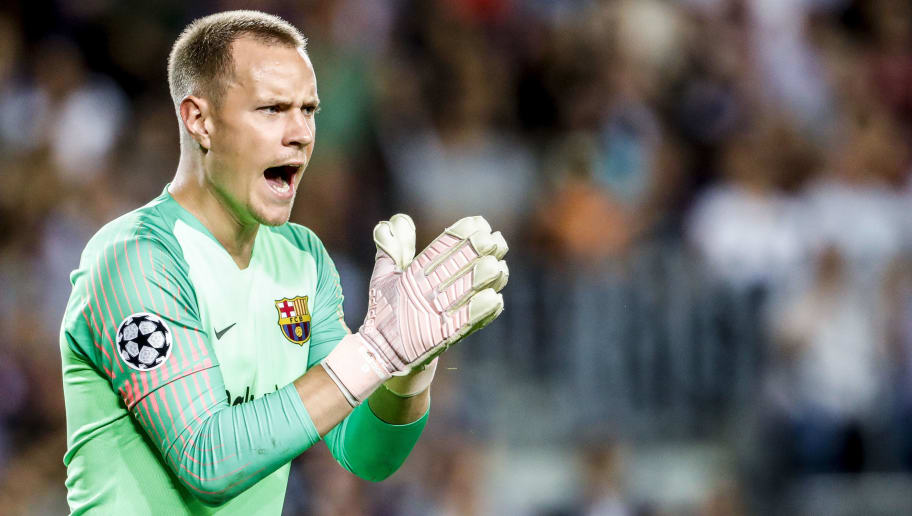 BARCELONA, SPAIN - SEPTEMBER 18: Marc-Andre ter Stegen of FC Barcelona  during the UEFA Champions League  match between FC Barcelona v PSV at the Camp Nou on September 18, 2018 in Barcelona Spain (Photo by Geert van Erven/Soccrates/Getty Images)