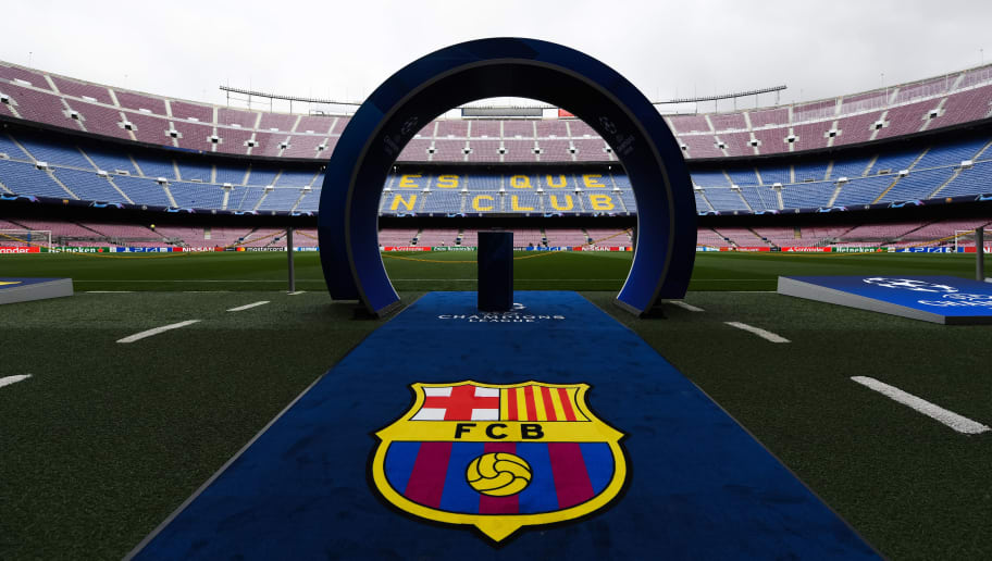 BARCELONA, SPAIN - SEPTEMBER 18:  A general view of the Camp Nou stadium ahead of the Group B match of the UEFA Champions League between FC Barcelona and PSV at Camp Nou on September 18, 2018 in Barcelona, Spain.  (Photo by Alex Caparros/Getty Images)
