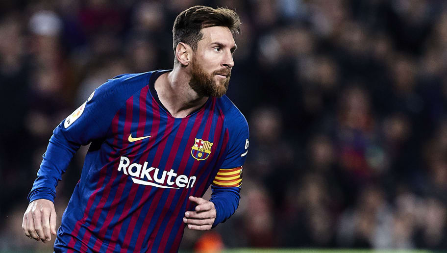 BARCELONA, SPAIN - DECEMBER 22: Lionel Messi of FC Barcelona during the La Liga match between FC Barcelona and RC Celta de Vigo at Camp Nou on December 22, 2018 in Barcelona, Spain. (Photo by Quality Sport Images/Getty Images)