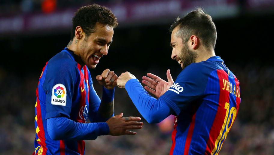 Jordi Alba,Neymar