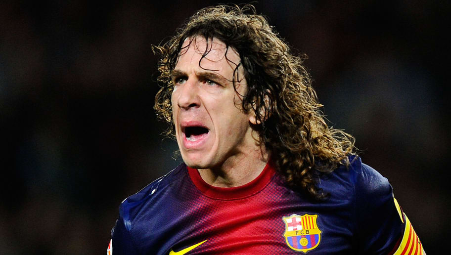 BARCELONA, SPAIN - MARCH 09:  Carles Puyol of FC Barcelona reacts during the La Liga match between FC Barcelona and RC Deportivo La Coruna at Camp Nou on March 9, 2013 in Barcelona, Spain.  (Photo by David Ramos/Getty Images)