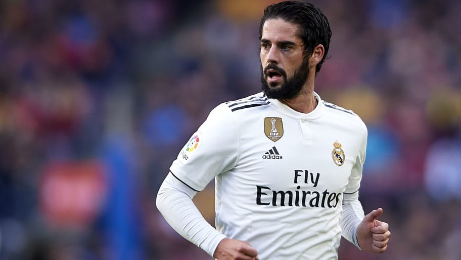 BARCELONA, SPAIN - OCTOBER 28:  Isco Alarcon of Real Madrid looks on during the La Liga match between FC Barcelona and Real Madrid CF at Camp Nou on October 28, 2018 in Barcelona, Spain.  (Photo by Quality Sport Images/Getty Images )