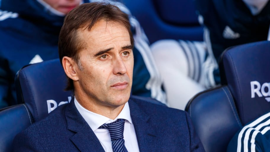 BARCELONA, SPAIN - OCTOBER 28: Head coach Julen Lopetegui of Real Madrid looks on prior the La Liga match between FC Barcelona and Real Madrid CF at Camp Nou on October 28, 2018 in Barcelona, Spain. (Photo by TF-Images/Getty Images)