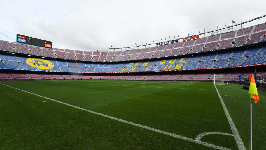 BARCELONA, SPAIN - OCTOBER 28:  General view inside the stadium prior to the La Liga match between FC Barcelona and Real Madrid CF at Camp Nou on October 28, 2018 in Barcelona, Spain.  (Photo by David Ramos/Getty Images)