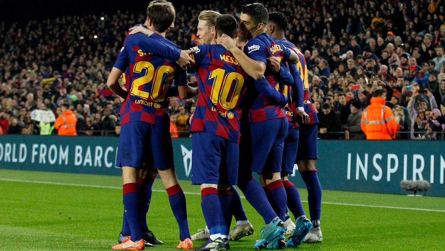 Antoine Griezmann,Clement Lenglet,Frenkie De Jong,Lionel Messi