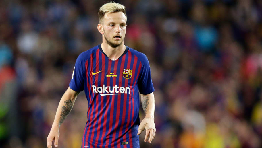 BARCELONA, SPAIN - MAY 20: Ivan Rakitic of FC Barcelona  during the La Liga Santander  match between FC Barcelona v Real Sociedad at the Camp Nou on May 20, 2018 in Barcelona Spain (Photo by Jeroen Meuwsen/Soccrates/Getty Images)