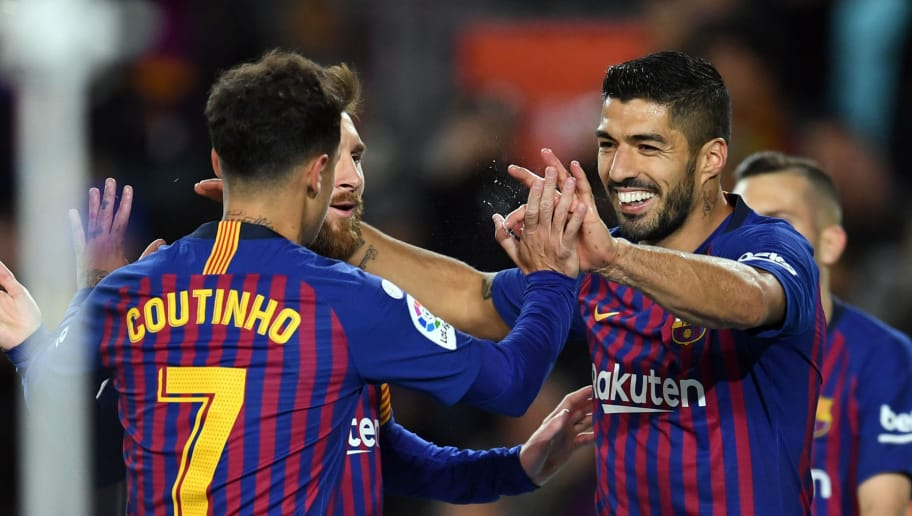 Luis Suarez,Lionel Messi,Philippe Coutinho