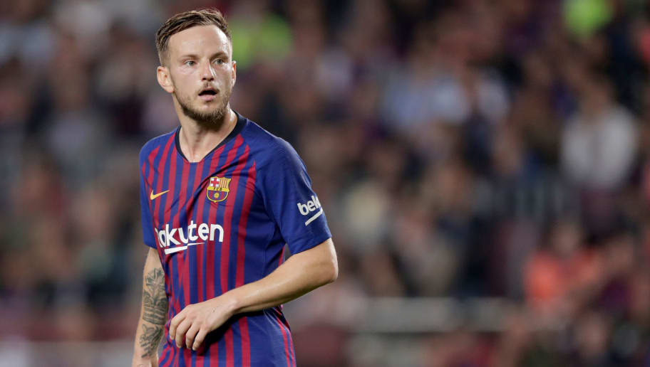 BARCELONA, SPAIN - OCTOBER 20: Ivan Rakitic of FC Barcelona during the La Liga Santander  match between FC Barcelona v Sevilla at the Camp Nou on October 20, 2018 in Barcelona Spain (Photo by Jeroen Meuwsen/Soccrates/Getty Images)