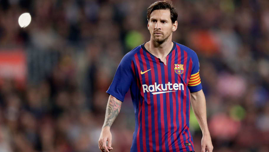 BARCELONA, SPAIN - OCTOBER 20: Lionel Messi of FC Barcelona during the La Liga Santander  match between FC Barcelona v Sevilla at the Camp Nou on October 20, 2018 in Barcelona Spain (Photo by Jeroen Meuwsen/Soccrates/Getty Images)