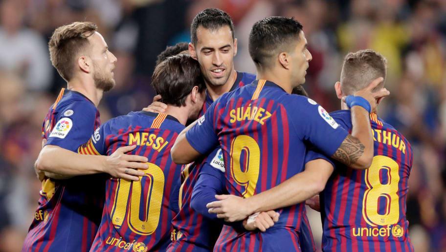 Arthur,Ivan Rakitic,Lionel Messi,Luis Suarez
