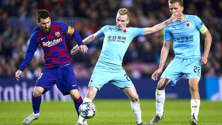 Lionel Messi,Tomas Soucek,Michal Frydrych