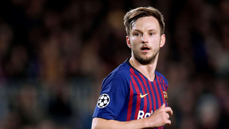 BARCELONA, SPAIN - DECEMBER 11: Ivan Rakitic of FC Barcelona  during the UEFA Champions League  match between FC Barcelona v Tottenham Hotspur at the Camp Nou on December 11, 2018 in Barcelona Spain (Photo by Jeroen Meuwsen/Soccrates/Getty Images)