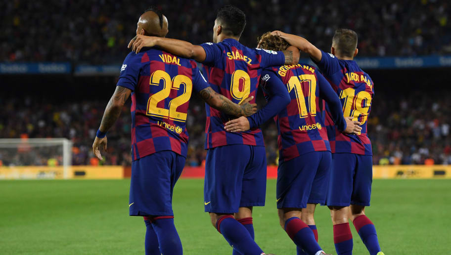 Luis Suarez,Antoine Griezmann,Jordi Alba,Arturo Vidal