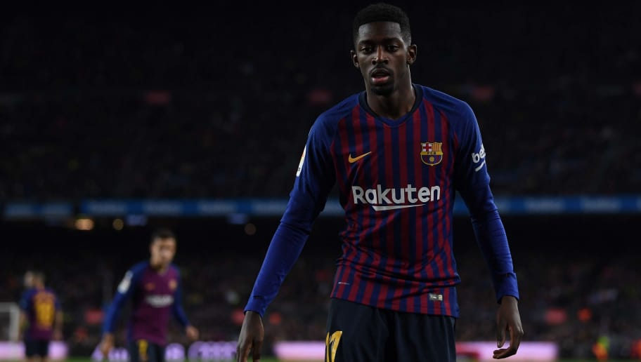 BARCELONA, SPAIN - DECEMBER 02: Oussame Dembele of FC Barcelona looks on during the La Liga match between FC Barcelona and Villarreal CF at Camp Nou on December 02, 2018 in Barcelona, Spain. (Photo by David Ramos/Getty Images)