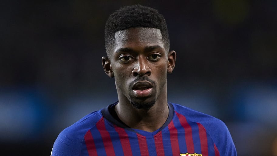 BARCELONA, SPAIN - DECEMBER 02: Ousmane Dembele of Barcelona looks on during the La Liga match between FC Barcelona and Villarreal CF at Camp Nou on December 02, 2018 in Barcelona, Spain. (Photo by Quality Sport Images/Getty Images)