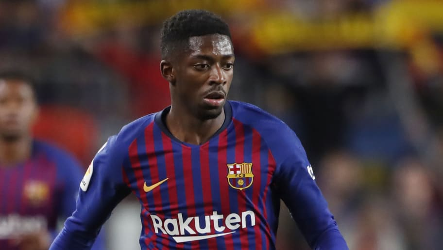 BARCELONA, SPAIN - DECEMBER 2: Ousmane Dembele of FC Barcelona  during the La Liga Santander  match between FC Barcelona v Villarreal at the Camp Nou on December 2, 2018 in Barcelona Spain (Photo by Soccrates/Getty Images)