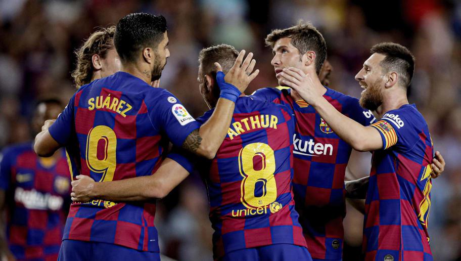 Antoine Griezmann,Arthur,Lionel Messi,Luis Suarez