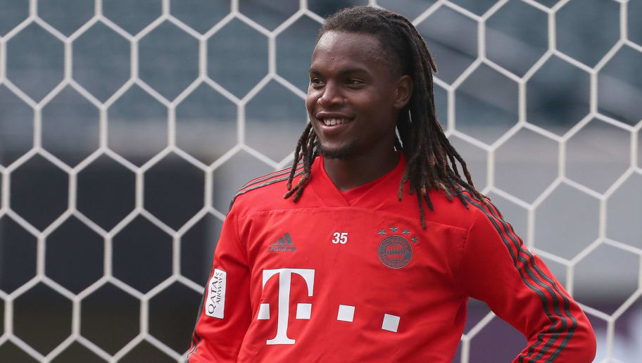 PHILADELPHIA, PA - JULY 24:  Renato Sanches of FC Bayern Muenchen is pictured during a training session at the Lincoln Financial Field American football stadium on the second day of the FC Bayern AUDI Summer tour 2018 on July 24, 2018 in Philadelphia, Pennsylvania.  (Photo by Alexandra Beier/Bongarts/Getty Images)