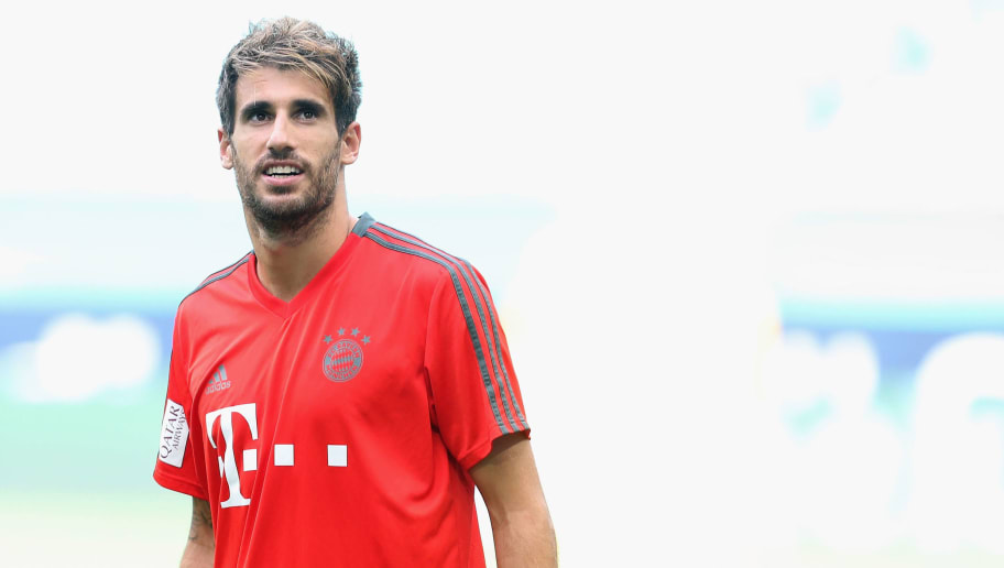 MIAMI, FL - JULY 27:  Javi Martinez of FC Bayern Muenchen is pictured during a training session ahead of the team's friendly match aganst Manchester City on Saturday during the FC Bayern AUDI Summer Tour on July 27, 2018 in Miami, Florida.  (Photo by Alexandra Beier/Bongarts/Getty Images)