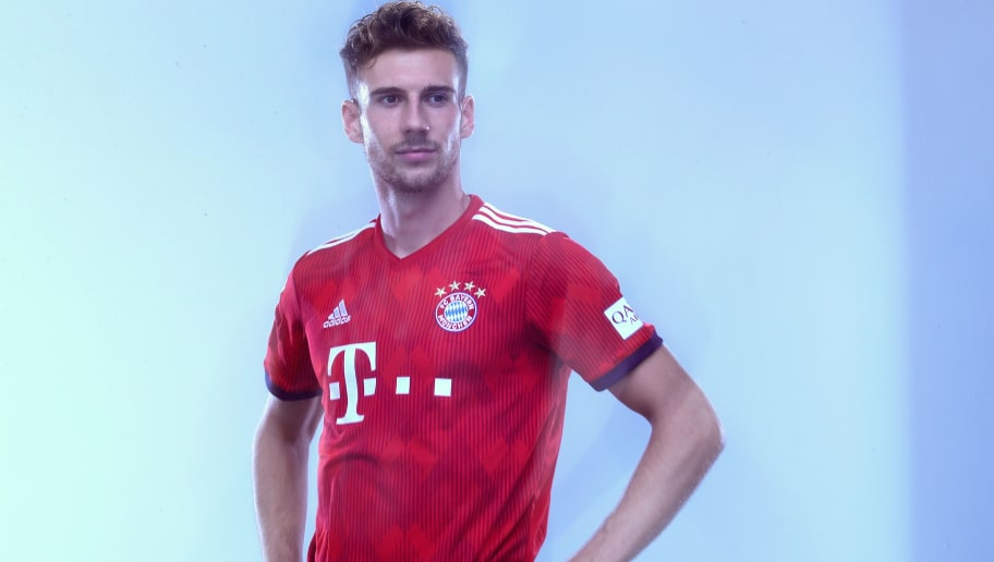 MUNICH, GERMANY - SEPTEMBER 02:  Leon Goretzka of FC Bayern Muenchen during the FC Bayern Muenchen and Paulaner Photo Session at FGV Schmidtle Studios on September 2, 2018 in Munich, Germany.  The traditional photo shoot featuring FC Bayern Muenchen for the Paulaner brewery who have been a platinum partner with Bayern Muenchen since 2003. Giving some of the stars from Germany's record-breaking football team and their trainer Niko Kovac the opportunity to get in touch with some Bavarian culture by dressing for the shoot in Lederhosen the traditional attire of Bavaria.  (Photo by Alexander Hassenstein/Getty Images for Paulaner)