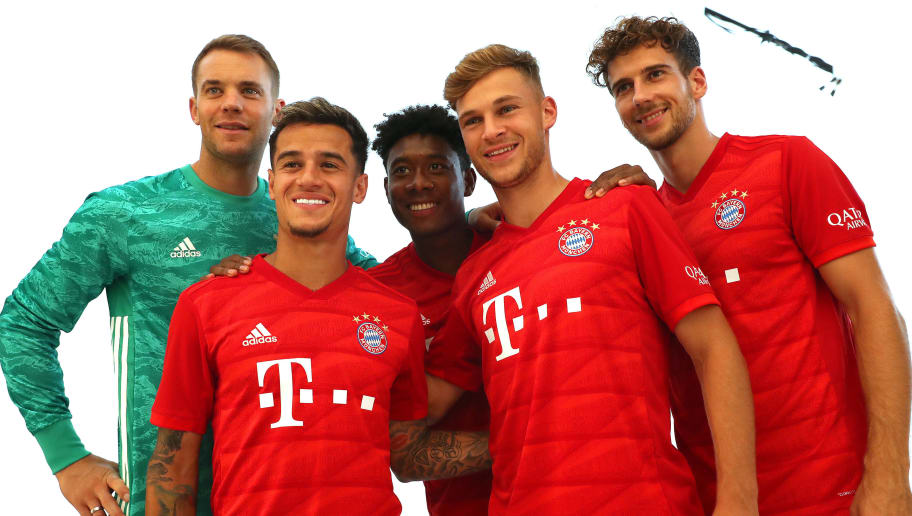 Manuel Neuer,Philippe Coutinho,David Alaba,Joshua Kimmich,Leon Goretzka
