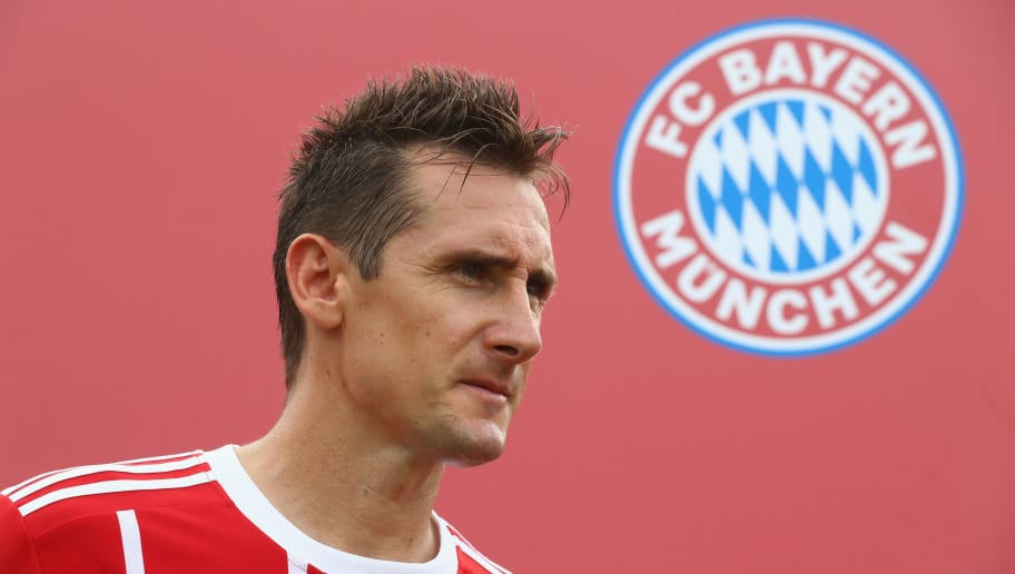 SINGAPORE - JULY 26:  Miroslav Klose of the FC Bayern Muenchen Legends attends the FC Bayern International Fanclub Tournament at Singapore Padang Field at the Singapore Cricket Club during the Audi Summer Tour 2017 on July 26, 2017 in Singapore.  (Photo by Alexander Hassenstein/Bongarts/Getty Images)