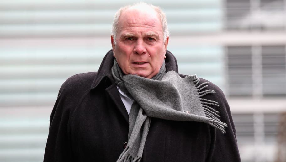 MUNICH, GERMANY - DECEMBER 11:  Uli Hoeness of Bayern Muenchen is seen prior to the departure of the team to the UEFA Champions League match against AFC Ajax at Airport Munich on December 11, 2018 in Munich, Germany. Bayern Muenchen needs at least one point to secure to first place in the group.  (Photo by Alexander Hassenstein/Bongarts/Getty Images)