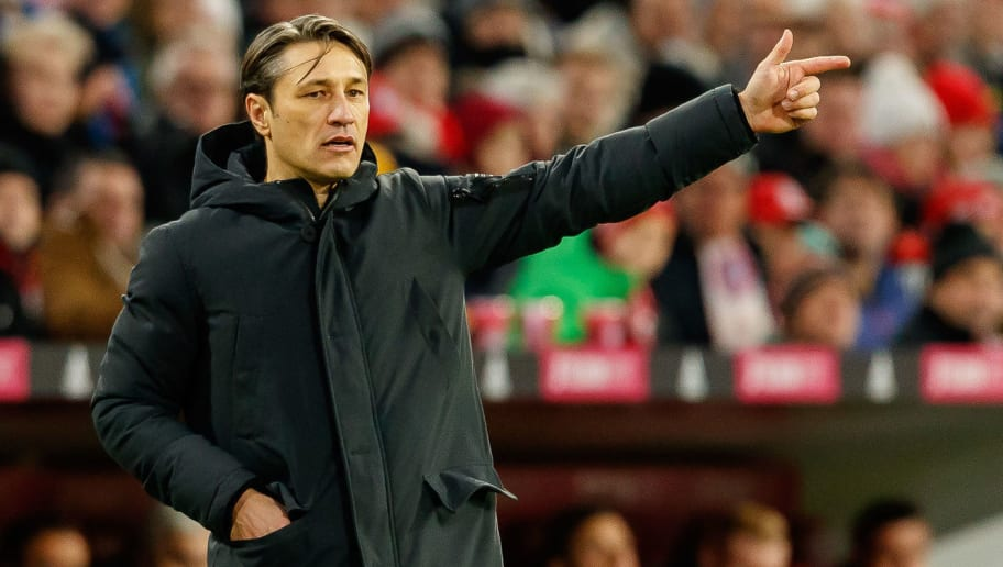 MUNICH, GERMANY - DECEMBER 08: of Head coach Niko Kovac of Bayern Muechen gestures during the Bundesliga match between FC Bayern Muenchen and 1. FC Nuernberg at Allianz Arena on December 8, 2018 in Munich, Germany. (Photo by TF-Images/TF-Images via Getty Images)