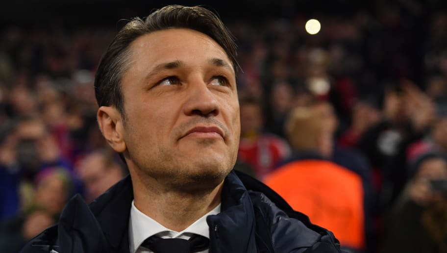 MUNICH, GERMANY - NOVEMBER 07: Head coach Niko Kovac of Bayern Muenchen looks on prior to the Group E match of the UEFA Champions League between FC Bayern Muenchen and AEK Athens at Allianz Arena on November 7, 2018 in Munich, Germany. (Photo by Sebastian Widmann/Bongarts/Getty Images)