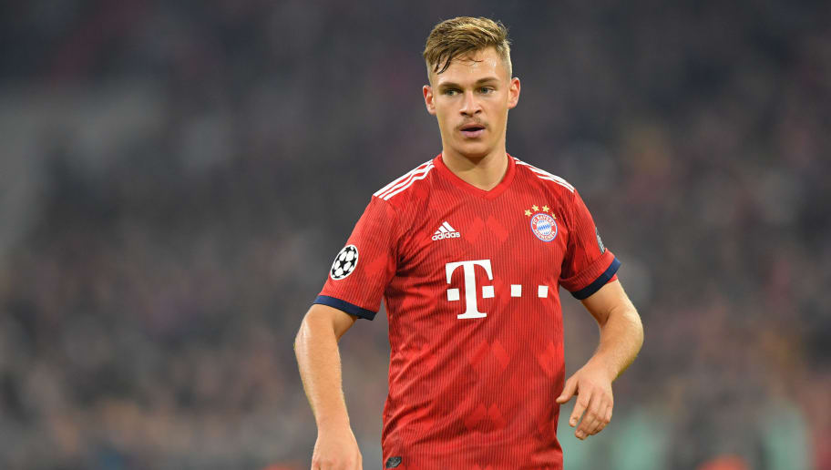 MUNICH, GERMANY - NOVEMBER 07: Joshua Kimmich of Bayern Muenchen looks on during the Group E match of the UEFA Champions League between FC Bayern Muenchen and AEK Athens at Allianz Arena on November 7, 2018 in Munich, Germany. (Photo by Sebastian Widmann/Bongarts/Getty Images)